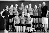 2015-10-17 l St. Agatha Volleyball - 8th Grade Team Photo